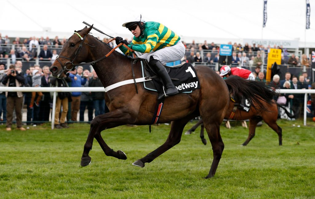 Britain Horse Racing - Grand National Festival - Aintree Racecourse - 6/4/17 Barry Geraghty on Buveur D'air wins the 3.25 Betway Aintree Hurdle Reuters / Phil Noble Livepic EDITORIAL USE ONLY.