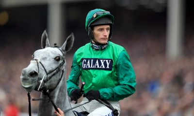 Jockey Daryl Jacob on Bristol De Mai prior to the start of the Timico Cheltenham Gold Cup Chase