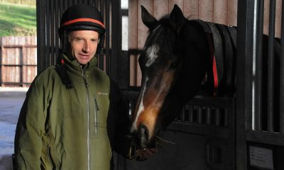 Racehorse trainer Tom Lacey at Cottage Field Stables near Woolhope, Herefordshire.