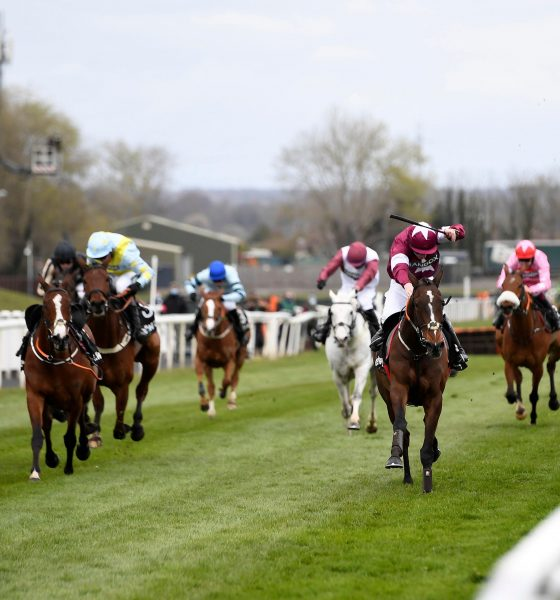 Horse Racing - Grand National Festival - Aintree Racecourse, Liverpool, Britain - April 8, 2021 Abacadabras ridden by J W Kennedy wins the 3:25 Betway Aintree Hurdle Pool via REUTERS/Peter Powell National Hunt