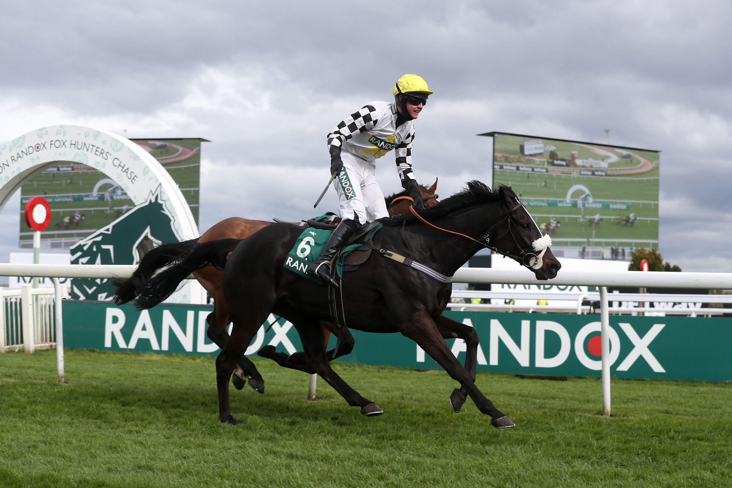 Cousin Pascal ridden by jockey James King win the Rose Paterson Randox Foxhunters' Open Hunters' Chase during Liverpool NHS Day of the 2021 Randox Health Grand National Festival at Aintree Racecourse, Liverpool. Picture date: Thursday April 8, 2021.