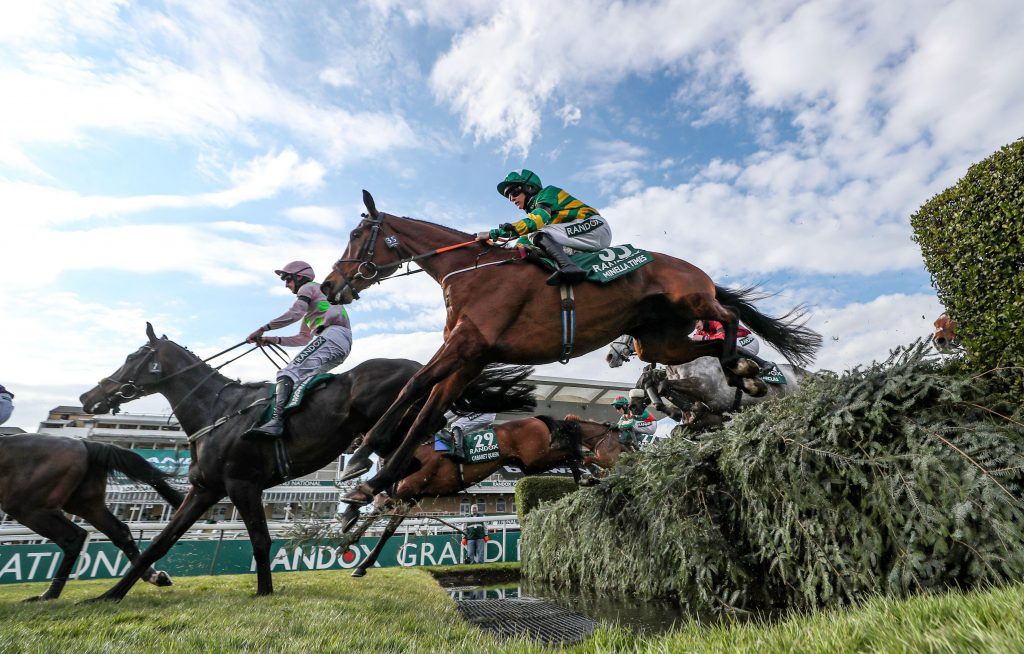 Minella Times ridden by Rachael Blackmore clears the water during Grand National Day of the 2021 Randox Health Grand National Festival at Aintree Racecourse, Liverpool. Picture date: Saturday April 10, 2021.