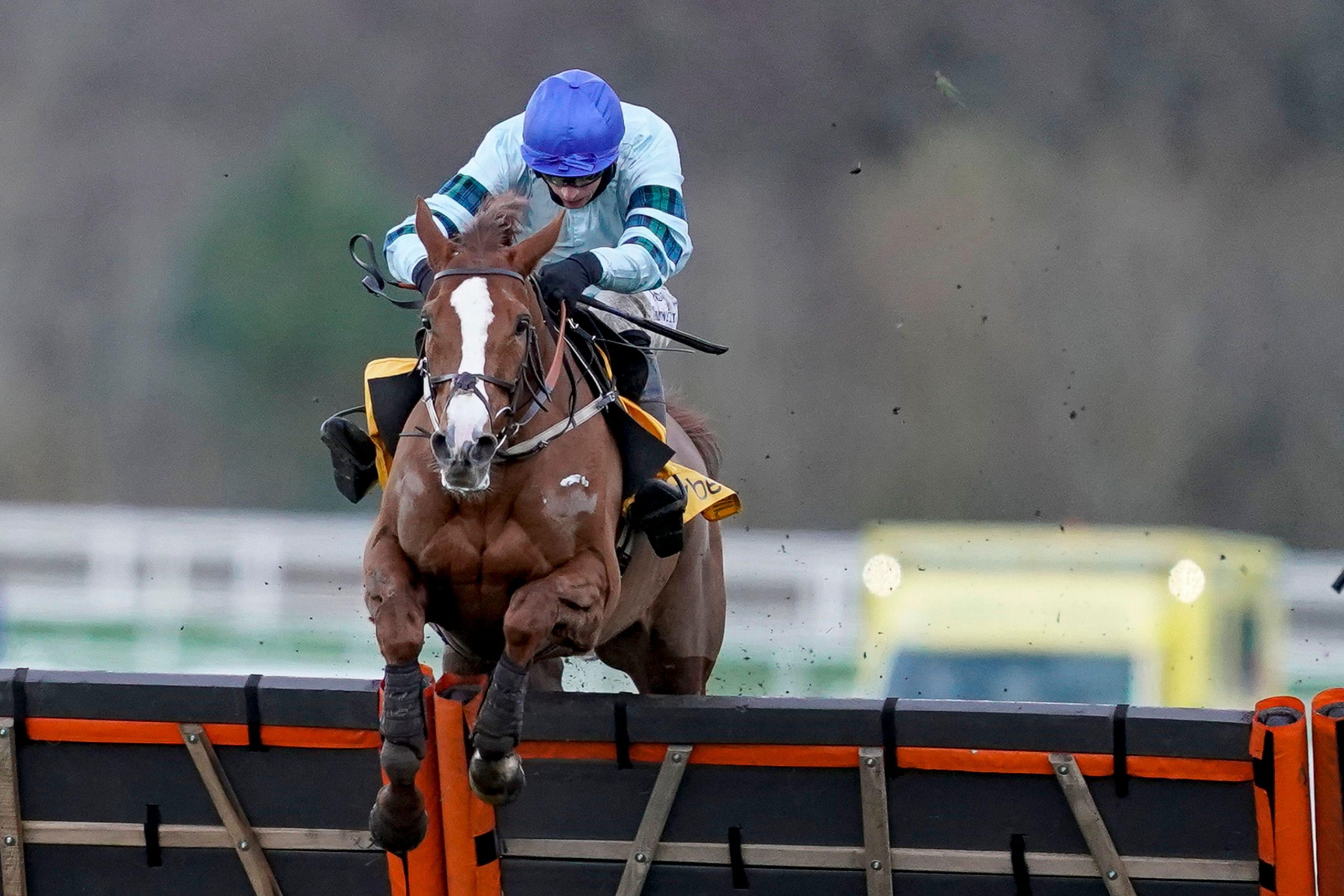 Tom O'Brien riding Not So Sleepy clear the last to win The Betfair Exchange Trophy during the Saturday of the December Racing Weekend at Ascot Racecourse.