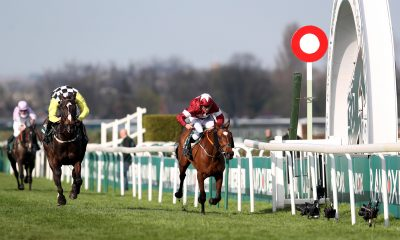 Tiger Roll ridden by jockey Davy Russell (right) wins the Randox Health Grand National Handicap Chase ahead of Pleasant Company ridden by jockey David Mullins during Grand National Day of the 2018 Randox Health Grand National Festival at Aintree Racecourse