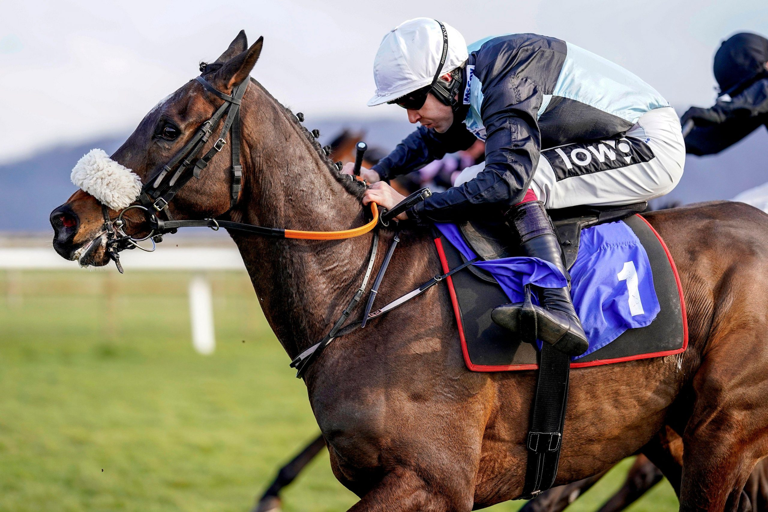 Copperless ridden by Aidan Coleman on their way to winning the Ray Wonnacott 80 And Not Out Handicap Hurdle at Taunton Racecourse. Picture date: Tuesday March 23, 2021.