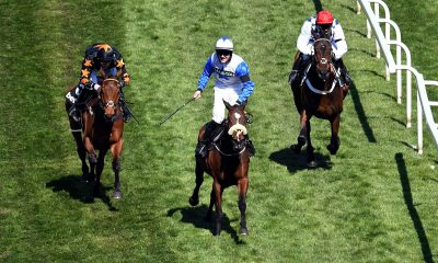 2F7PT8C Horse Racing - Grand National Festival - Aintree Racecourse, Liverpool, Britain - April 9, 2021 Belfast Banter ridden by Kevin Sexton wins the 2:20 Betway Top Novices? Hurdle Pool via REUTERS/Peter Powell