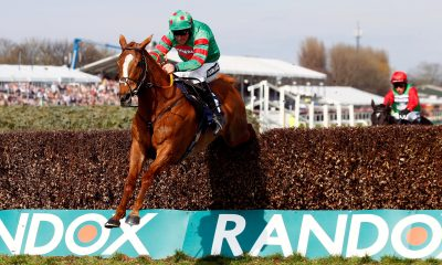 2EB7CE6 Horse Racing - Grand National Festival - Aintree Racecourse, Liverpool, Britain - April 6, 2019 Ornua ridden by Davy Russell before winning the 3.00 Doom Bar Maghull Novices' Chase Action Images via Reuters/Jason Cairnduff