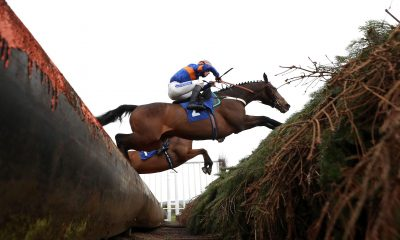 2F9Y1W2 Solar Impulse ridden by jockey Charlie Todd during the Watch On RacingTV Now Handicap Chase at Ludlow Racecourse. Picture date: Wednesday April 21, 2021.